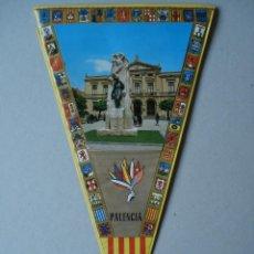 Banderines de colección: BANDERIN DE PALENCIA - PLASTIFICADO - SIN LA CUERDA - AÑOS 60 A 70..... R- 4124. Lote 79843269