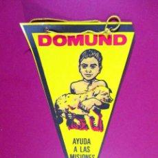 Banderines de colección: BANDERÍN PLÁSTICO , DOMUND, AYUDA A LAS MISIONES. Lote 82366496