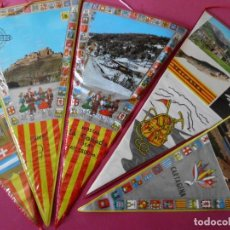 Banderines de colección: LOTE DE 5 BANDERINES DE LOS AÑOS 70 (CARDONA, CARTAJENA, VINARÓZ, SETCASES, HOSTAL LA COLLADA ). Lote 82939848