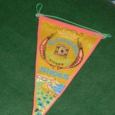 Banderines de colección: BANDERIN RESTAURANT PORTA - EL REI DEL PEIX - SITGES - AÑOS 1970. Lote 85826604