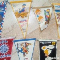 Banderines de colección: LOTE 17 BANDERINES ANTIGUOS.. Lote 86591192