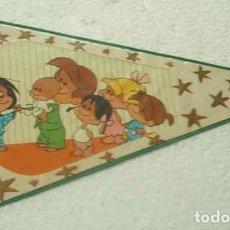 Banderines de colección: BANDERIN DE LA FAMILIA TELERIN, EL 1º, MUY ANTIGUO, ES PLÁSTICO DURO, MUY RARO.. Lote 91452790