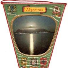 Banderines de colección: ALGECIRAS, CADIZ, ORIGINAL ANTIGUO EN BUEN ESTADO, MUY BONITO Y MUY DIFICIL VER ENVIOS. Lote 91718995