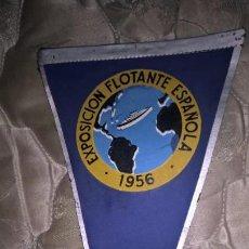 Banderines de colección: EXPOSICIÓN FLOTANTE ESPAÑOLA 1956. Lote 92134540
