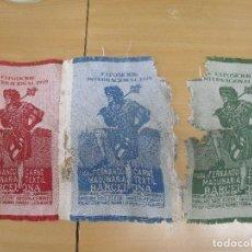 Banderines de colección: 1929 EXPOSICION INTERNACIONAL BARCELONA PUBLICIDAD VIUDA FERNANDO CARNE MAQUINARIA TEXTIL COMO SE VE. Lote 92302530