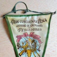 Banderines de colección: BANDERIN CONCURSO PESCA TALAVERA DE LA REINA AÑOS 60. Lote 93857030