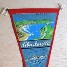 Banderines de colección: BANDERIN TURISTICO RIBADESELLA. AÑOS 60.. Lote 93862020
