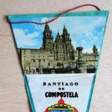 Banderines de colección: BANDERIN TURISTICO SANTIAGO COMPOSTELA, AÑO SANTO 1965.. Lote 93864135