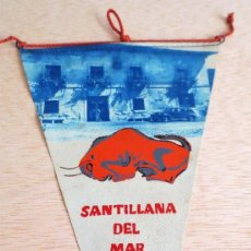 Banderines de colección: BANDERIN TURISTICO SANTILLANA DEL MAR. AÑO 1963. Lote 93864355
