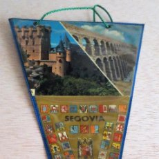 Banderines de colección: BANDERIN TURISTICO SEGOVIA. AÑOS 60. ENFUNDADO AZUL.. Lote 93864555