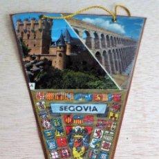Banderines de colección: BANDERIN TURISTICO SEGOVIA. AÑOS 60. ENFUNDADO ROJO.. Lote 93864640