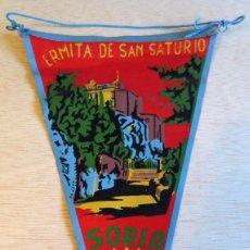 Banderines de colección: BANDERIN TURISTICO ERMITA SAN SATURIO, SORIA. AÑOS 60.. Lote 93865215