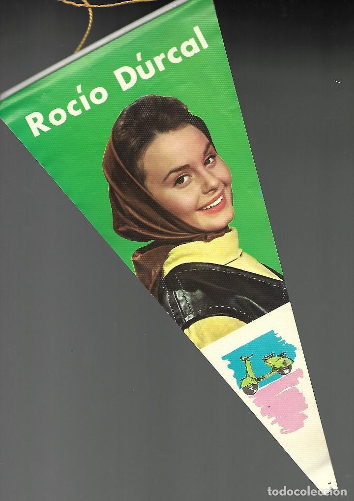 BANDERIN ROCIO DURCAL. EDICIONES MANDOLINA, EPOCA FILMS1102, GRAFICAS FHER. VESPA. (Coleccionismos - Banderines)