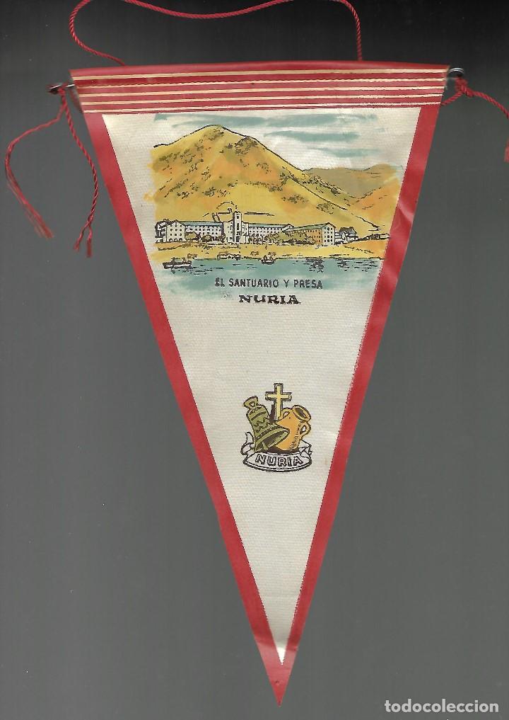 BANDERIN EL SANTUARIO Y PRESA DE NURIA. (Coleccionismos - Banderines)