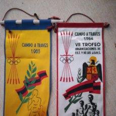 Banderines de colección: BANDERIN TROFEO FALANGE Y JON'S 1963, 64. Lote 94517831