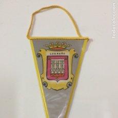 Banderines de colección: BANDERÍN LOGROÑO 17X7CM. Lote 95848474