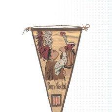 Banderines de colección: BANDERIN: CATALUNYA - IMAGEN COSTUMBRISTA COMO FELICITACION NAVIDEÑA. BEBIENDO EN PORRON.. Lote 95915718