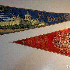 Banderines de colección: 2 BANDERINES DEL ESCORIAL AÑO 63 BA 20. Lote 95940451