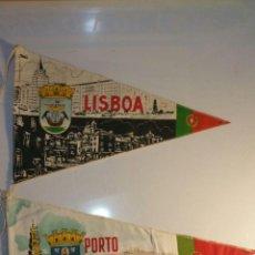 Banderines de colección: 3 BANDERINES DE PORTUGAL 2 DE LISBOA 1 PORTO BA 25. Lote 95948707