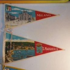 Banderines de colección: 3 BANDERINES FIRENZE - MILANO - S. MARGHERITA BA 22. Lote 95949655