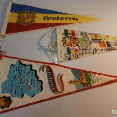 Banderines de colección: 3 BANDERINES 2 DE ANDORRA Y UNO SAN JULIA DE LORIA BA 24. Lote 95950287