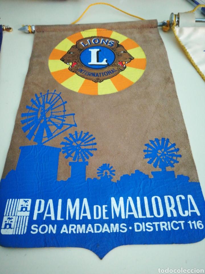 LIONS INTERNATIONAL. PALMA DE MALLORCA. DISTRITO 116. (Coleccionismo - Banderines)