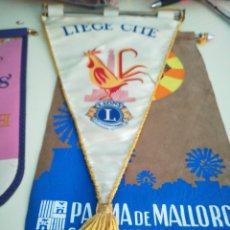 Banderines de colección: BANDERIN LIONS INTERNATIONAL. LIEGE CITE. . Lote 98608040