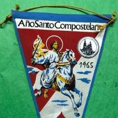 Banderines de colección: BANDERÍN AÑO SANTO COMPOSTELANO 1965. Lote 98649507