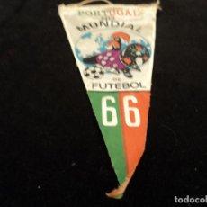 Banderines de colección: ANTIGUO BANDERIN PORTUGAL NO MUNDIAL DE FUTEBOL 1966 28 CM. Lote 189435625
