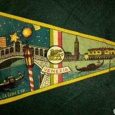 Banderines de colección: ANTIGUO BANDERIN DE TELA ITALIANO VENEZIA. Lote 100379839