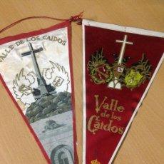 Banderines de colección: ANTIGUOS BANDERINES VALLE DE LOS CAIDOS FRANQUISMO IRUPE MADRID. Lote 101046315