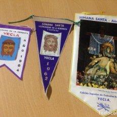 Banderines de colección: ANTIGUOS BANDERINES RELIGIOSOS SEMANA SANTA YECLA MURCIA. Lote 101046407