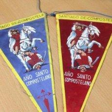Banderines de colección: ANTIGUOS BANDERINES SANTIAGO DE COMPOSTELA AÑO SANTO COMPOSTELANO. Lote 101046583