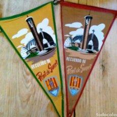 Banderines de colección: DOS BANDERINES RECUERDO DE PONT DE SUERT. Lote 101211947