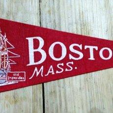 Banderines de colección: BANDERIN DE FIELTRO BOSTON MASS. Lote 101213112