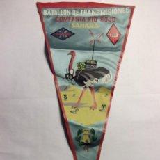Banderines de colección: BANDERÍN BATALLÓN DE TRANSMISIONES. COMPAÑÍA RÍO ROJO. SAHARA. AÑO 1959. Lote 101310151