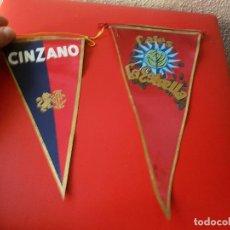 Banderines de colección: LOTE BANDERIN ANTIGUO AÑOS 60 PUBLICIDAD CARTEL CINZANO Y CAFE LA ESTRELLA CAFES BANDERINES. Lote 102173303