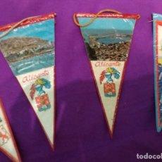 Banderines de colección: LOTE 4 MINIBANDERINES DE PLASTICO. Lote 102617603