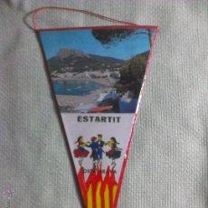 Banderines de colección: BANDERÍN DE ESTARTIT. GERONA. CATALUÑA. ESPAÑA. AÑOS ´60-´70. . Lote 40480864
