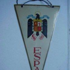Banderines de colección: BANDERIN TURISTICO NACIONAL EPOCA DE FRANCO CON AGUILA DE SAN JUAN, DETRAS PONE AVILA , AÑOS 50. Lote 103810435