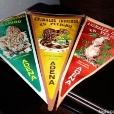 Banderines de colección: ANIMALES IBERICOS EN PELIGRO BANDERINES ADENA. Lote 105931083