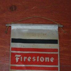 Banderines de colección: RARO BANDERÍN DE TELA DE FIRESTONE - AÑOS 50-60. Lote 107291407
