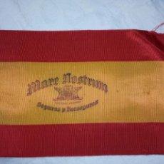 Banderines de colección: BANDERA ESPAÑA PUBLICIDAD SEGUROS MARE NOSTRUM.BANDERIN.PROPAGANDA.SEGUROS.NACIONAL.. Lote 107342071