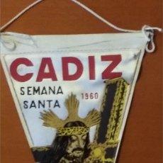 Banderines de colección: CADIZ SEMANA SANTA 1960. Lote 108722263