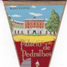 Banderines de colección: BANDERÍN BARCELONA PEDRALBES AÑOS 60. Lote 110175039