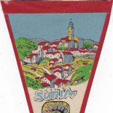 Banderines de colección: BANDERÍN SURIA LLEIDA AÑOS 60. Lote 110175387