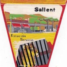 Banderines de colección: BANDERÍN SALLENT BARCELONA EL LEÓN AÑOS 60. Lote 110176099