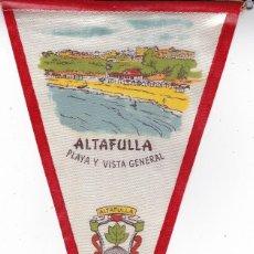 Banderines de colección: BANDERÍN ALTAFULLA PLAYA TARRAGONA AÑOS 60. Lote 110176783