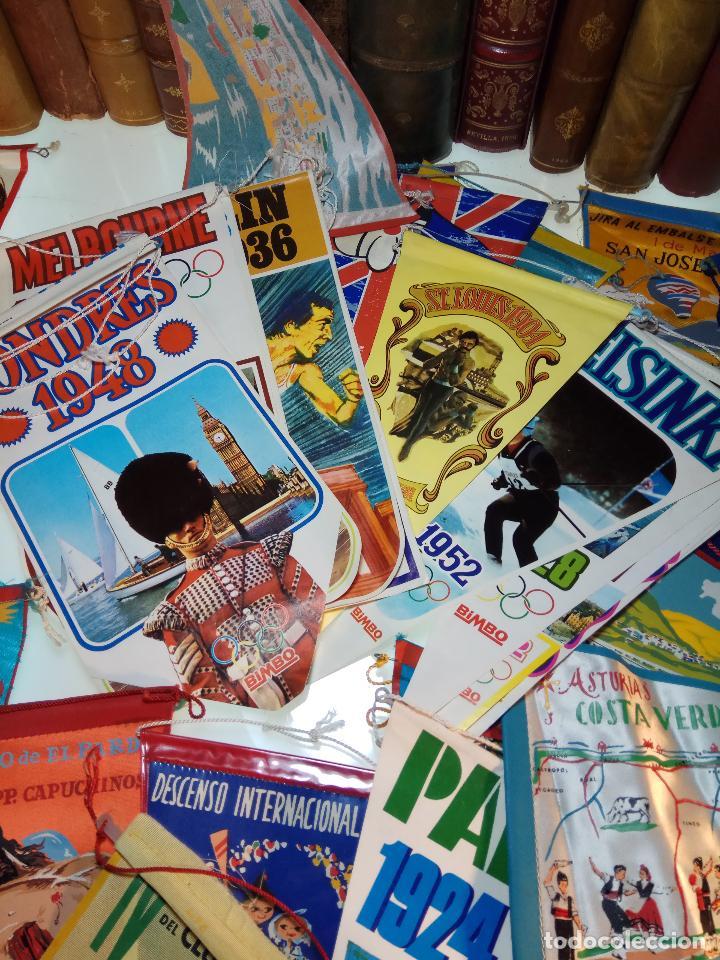 Banderines de colección: ESPECTACULAR LOTE DE 62 BANDERINES DE CIUDADES DE ESPAÑA, EVENTOS, RELIGIOSOS, MARCAS, JJOO, ETC. - Foto 11 - 110625755