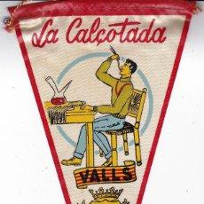 Banderines de colección: BANDERÍN LA CALÇOTADA VALLS TARRAGONA AÑOS 60. Lote 111108307